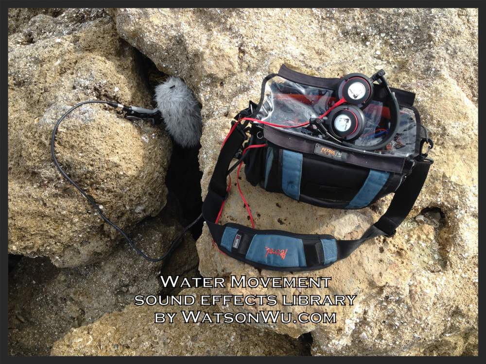 WatsonWu.com - Water Movements (Part 1 Between Rocks) sound clips