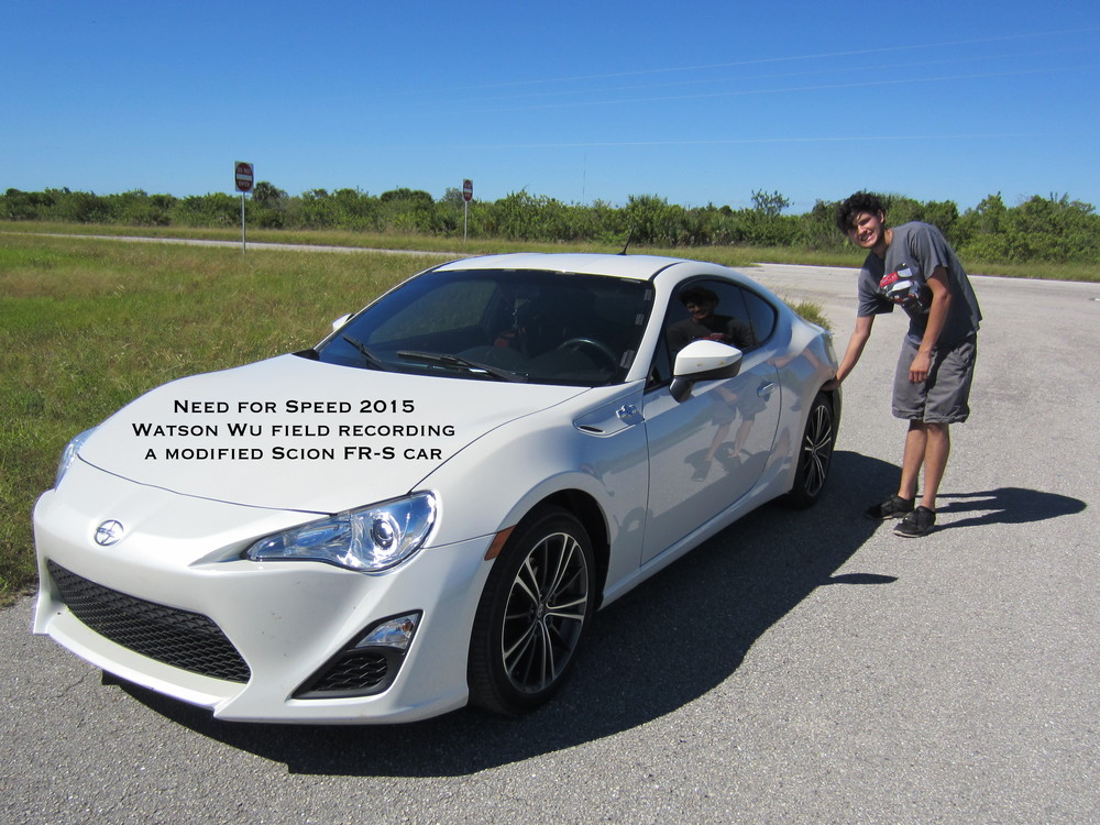 Modified Scion FR-S sports car with stunt driver Daniel Hoy.