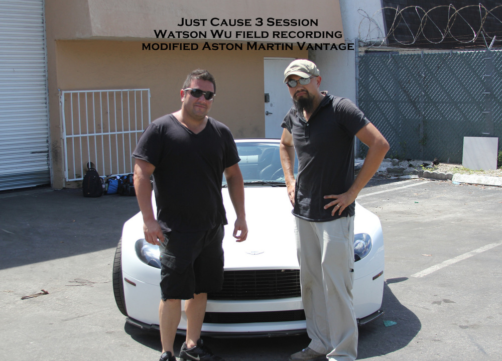 Watson Wu Field Recording a modified  Aston Martin Vantage  with owner/driver Hershel.