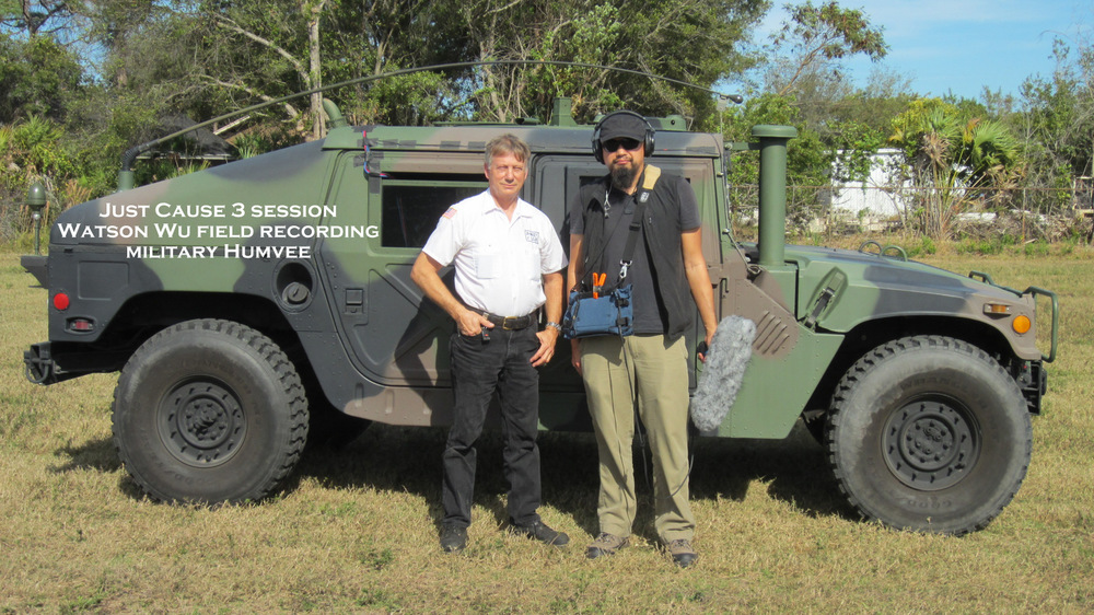 Field recording a  Humvee  with owner/driver Wayne.