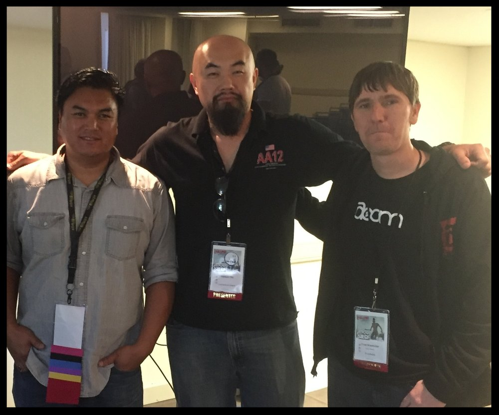 Speakers Chris Rickwood (Smite, Madden, Age of Empires Online, etc), Watson Wu (RIGS, Assassin's Creed, Just Cause 3, etc), and Chad Mossholder (Audio Director of ID Software - Doom, DC Universe Online, EverQuest, etc)
