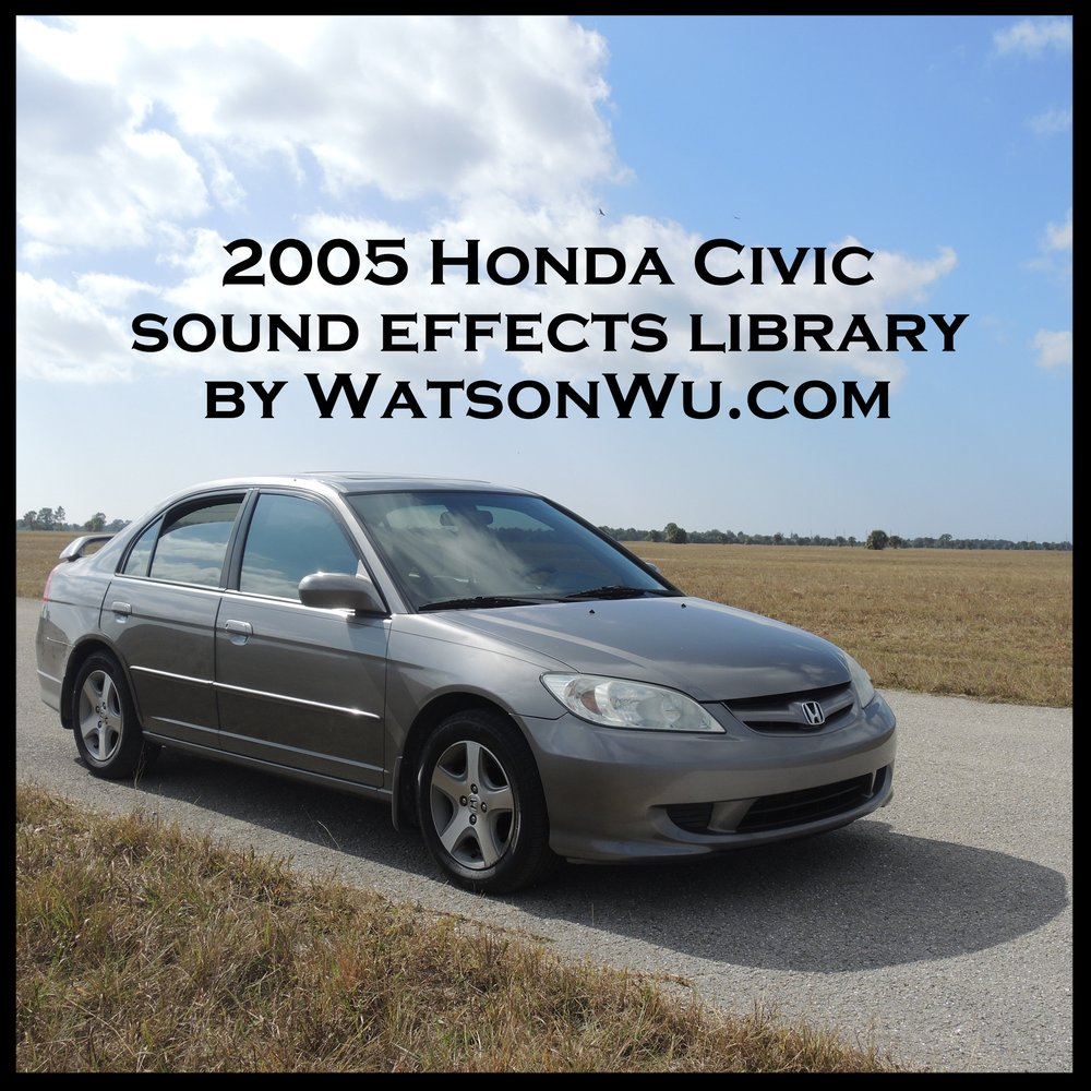 Honda Civic car sound effects library , by WatsonWu.com