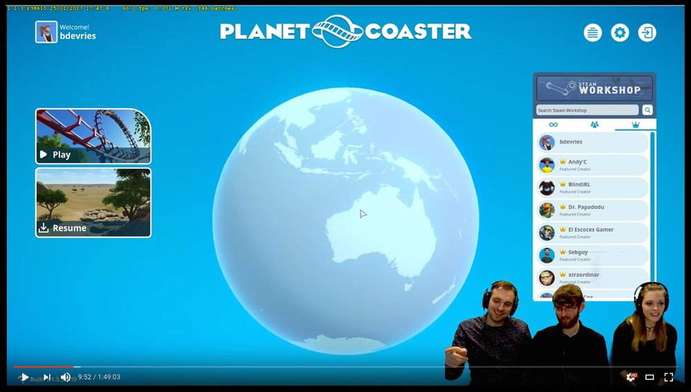 Click HERE to watch the entire video. To hear about my coaster recordings, go to time frame 46:40.