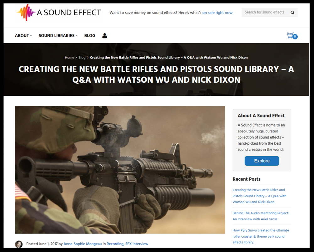 BATTLE RIFLES & PISTOLS IS A NEW WEAPONS SOUND FX LIBRARY, MADE FOR SOUND DESIGNERS. CLICK HERE TO LISTEN TO THE BRIEF COLLAGE AUDIO DEMO.