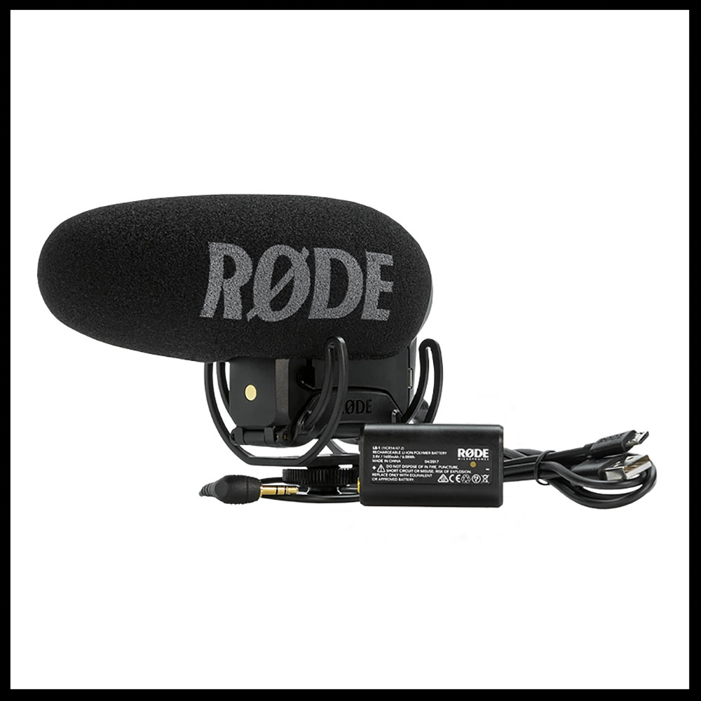VideoMic Pro Plus camera mic with new rechargeable battery!