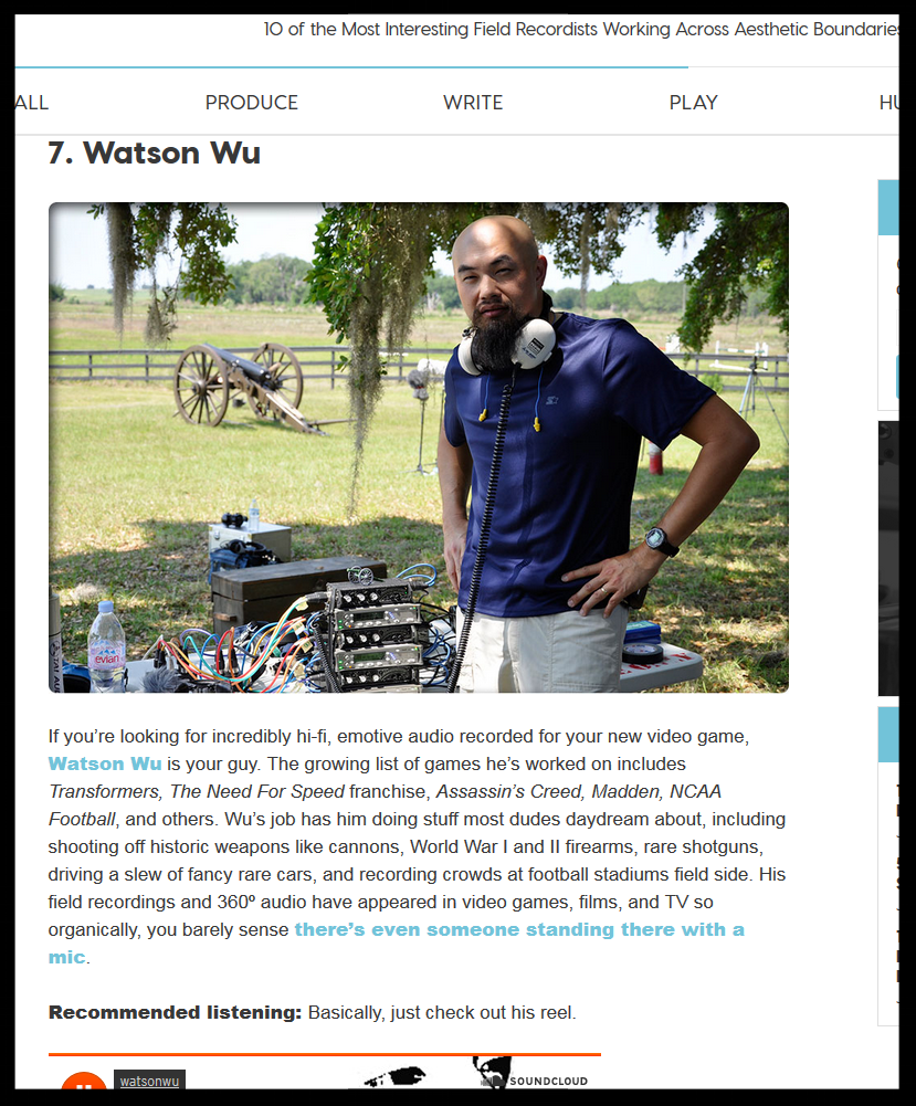 Top 10 Field Recodist List from Soundfly.com - Watson Wu - 01.2018.png