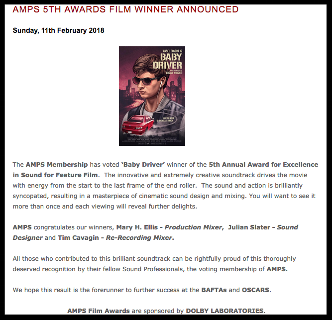Watson Wu - Baby Driver wins AMPS 5th annual award for Excellence in Sound.png