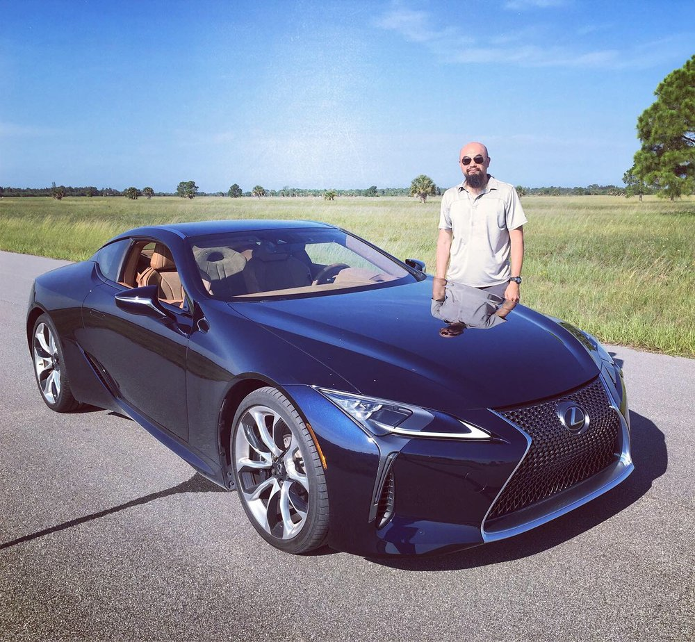 Watson with 2020   Lexus LC500   v8 sports car