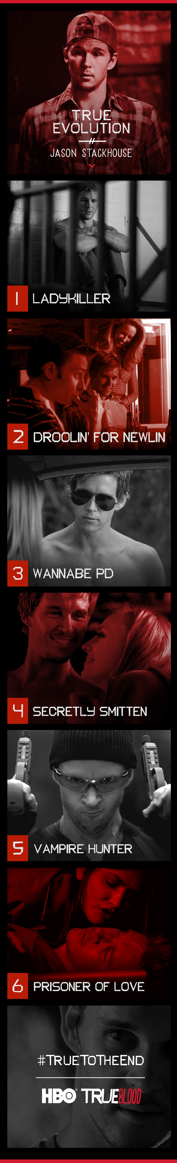 Jason Stackhouse, as played by Ryan Kwanten, on True Blood.