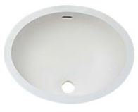 "Single SINK - 1612 W. 18""  X  L. 14""  X  D. 5"" Color: Aric White"