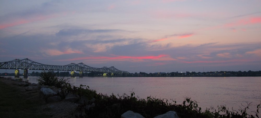 Sunset over the Mississippi River from Natchez, Mississippi. Photo by Jackie Killian, CIS Summer Fellow 2013.
