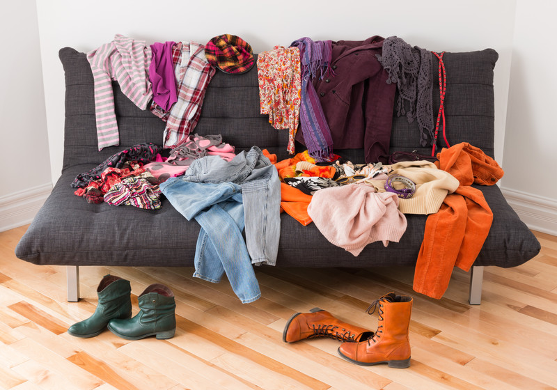 Take all your clothing out to categorize each item. A simple step towards a lifetime of great organization!