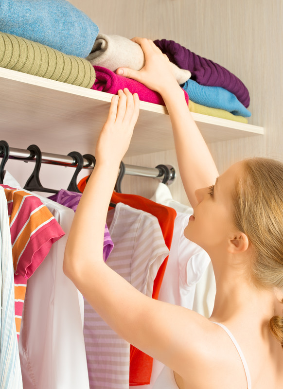 By storing your lighter items above and heavier items below, you can always easily grab what you need and then store it back where it came from...without fear of a head injury.