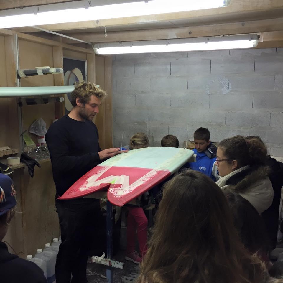 visite �cole de surf atelier de shape