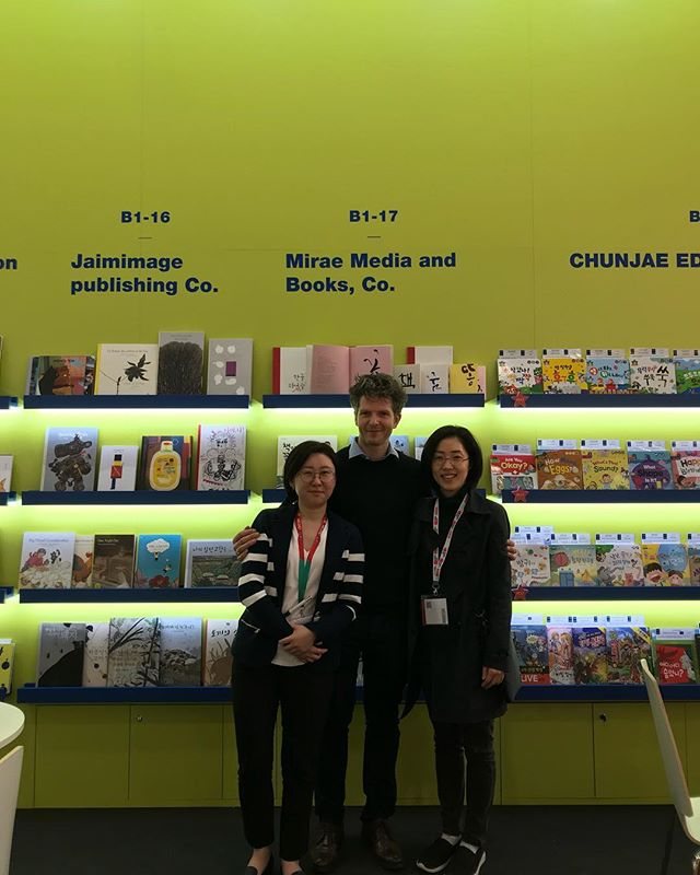 #bcbf19 @bolognachildrensbookfair thank you @openbooket so good to meet Miss Kim @mirae_ibooks