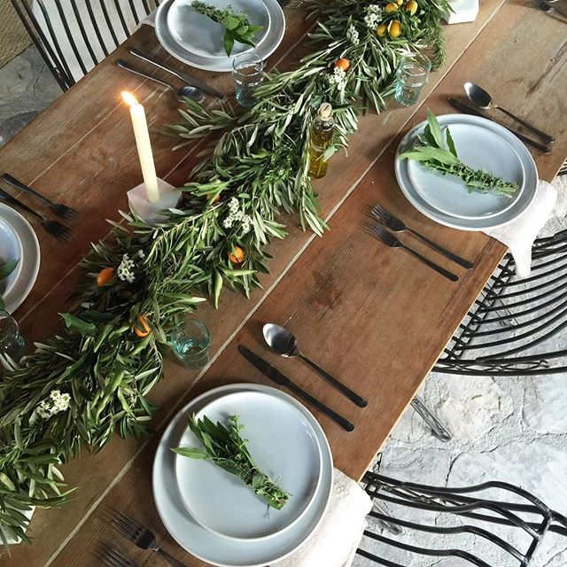 To turkey or tablescape... that is the question! I call tablescape!