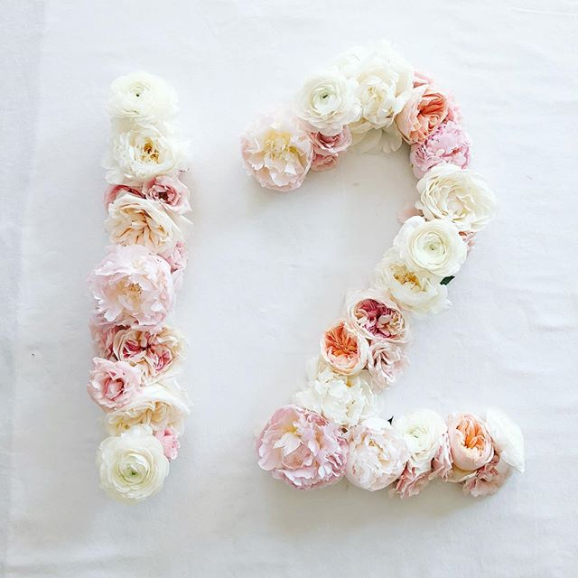 Garden roses, peonies and ranunculus for the last of Elle's first 12 Months! #ellesfirst12