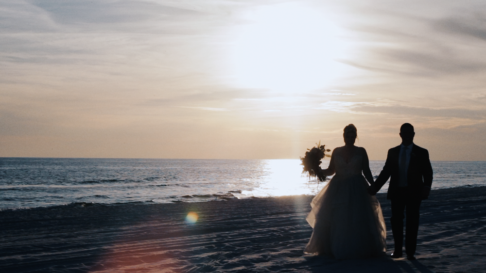 Jason & Ashlee had a captivating, intimate wedding at a beach house in Santa Rosa Beach, Florida