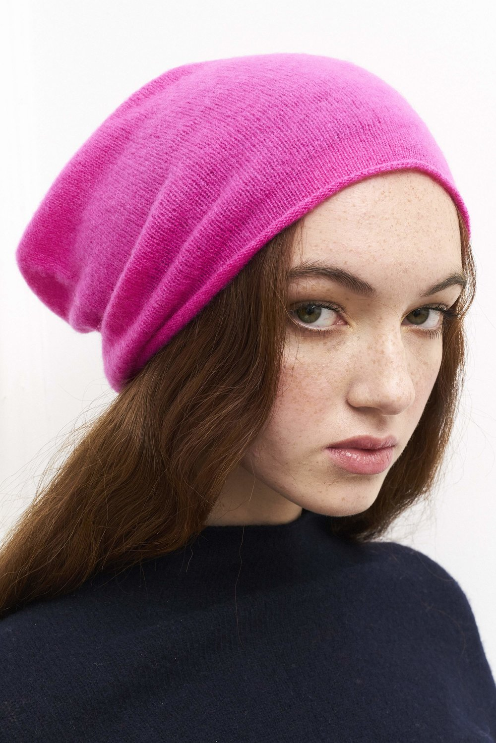 Classic Beanie Hat in Hot Pink — Laura Chambers 7b714dea6ad