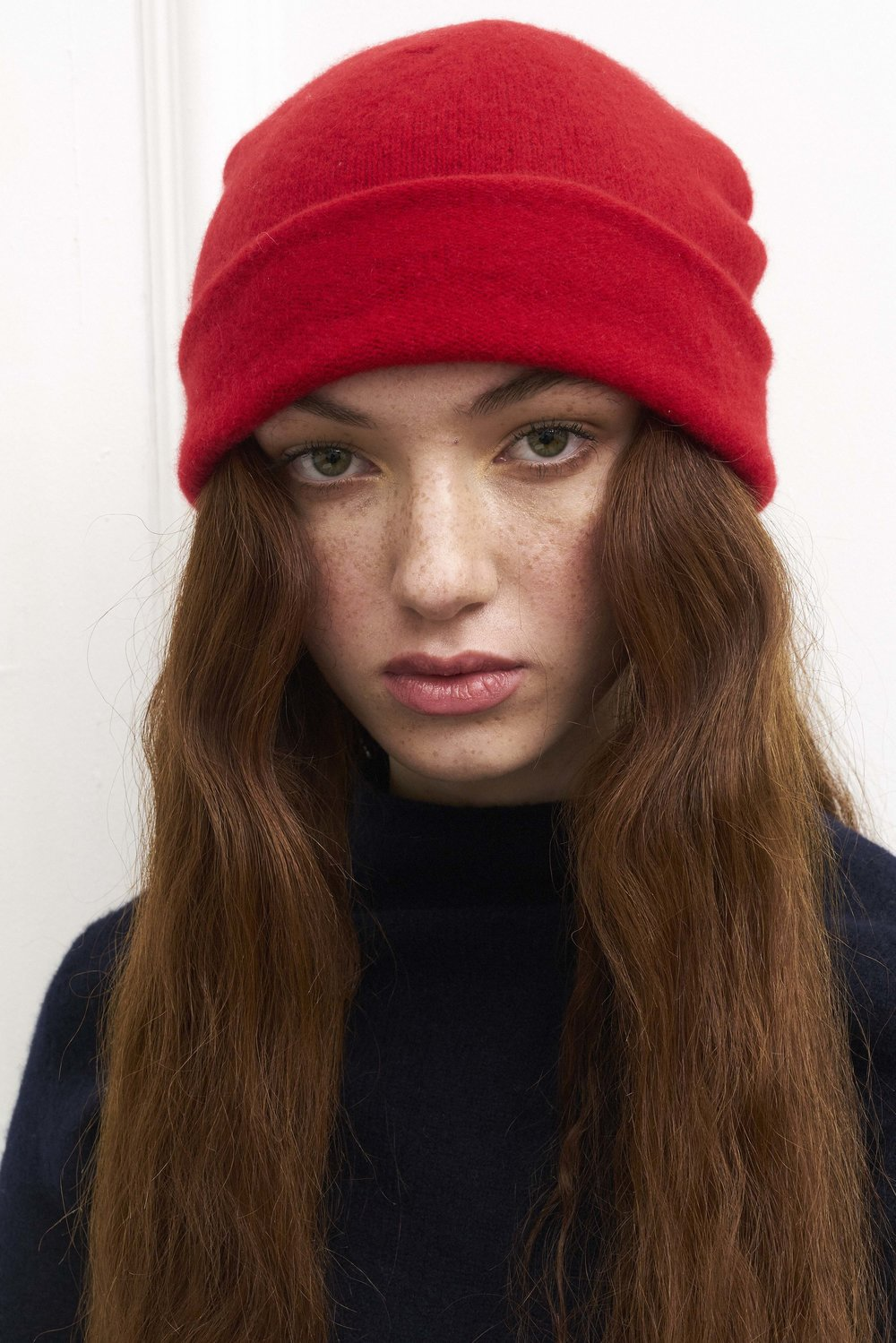 Classic Beanie Hat in Ruby Red — Laura Chambers 66b9945c5c8