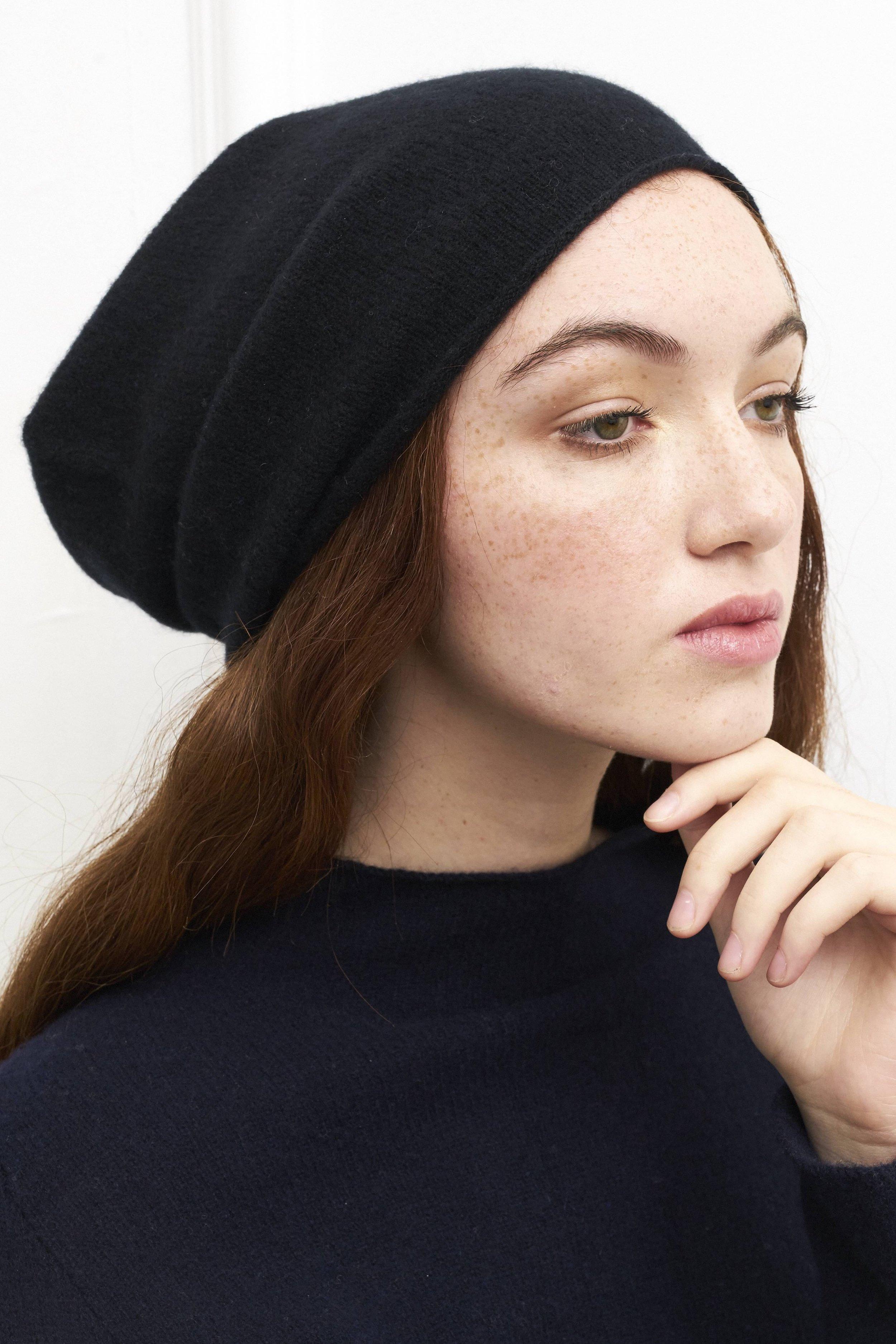 4e7c26579bbf6 Classic Beanie Hat in Black — Laura Chambers
