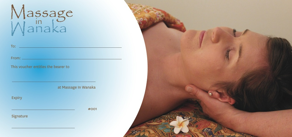 Massage In Wanaka Gift Vouchers