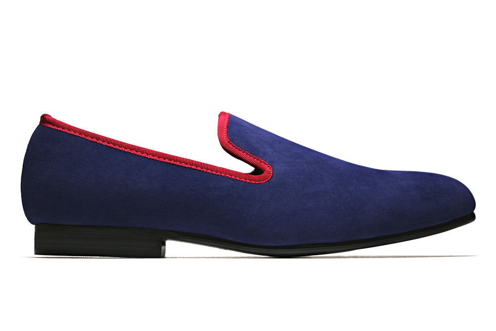 Duke & Dexter: Bullish Blue With Red Trim | Shoes,Shoes > Loafers -  Hiphunters Shop