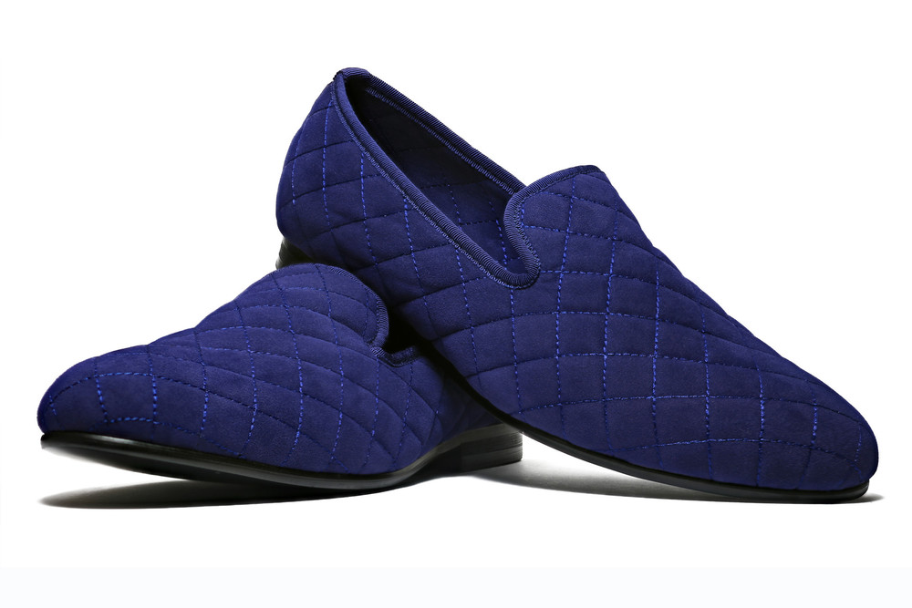 Duke & Dexter: Quilted Blue | Shoes,Shoes > Loafers -  Hiphunters Shop