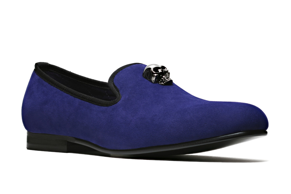 Duke & Dexter: Skulled (Blue) | Shoes,Shoes > Loafers -  Hiphunters Shop