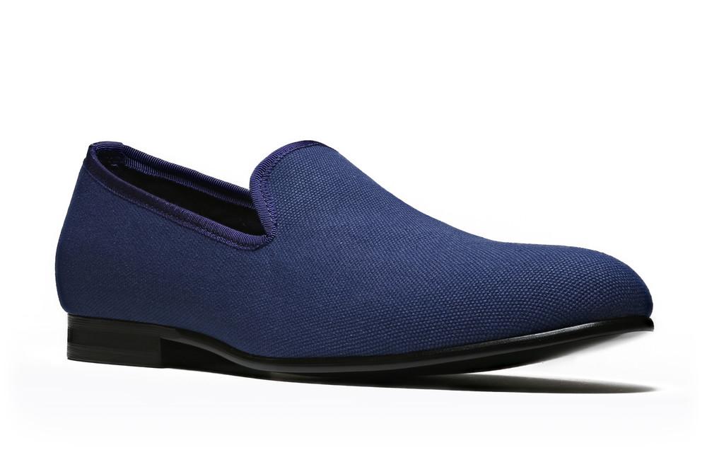 Duke & Dexter: Navy Linen | Shoes,Shoes > Loafers -  Hiphunters Shop