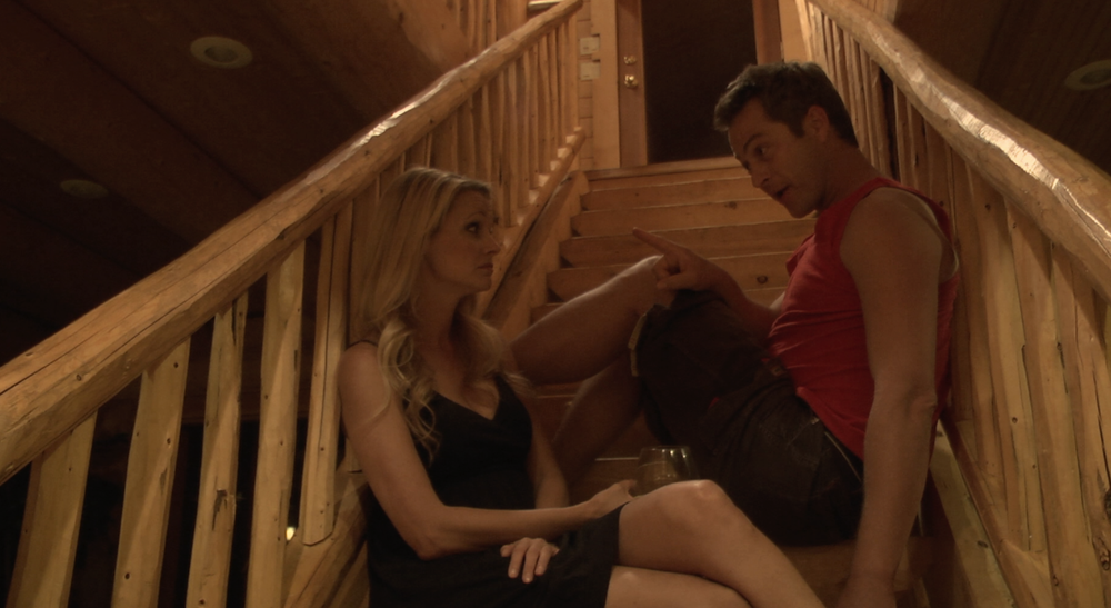 Rosalie Michaels as Martina and Slade Hall as Billy in a scene from  Pale Trees .