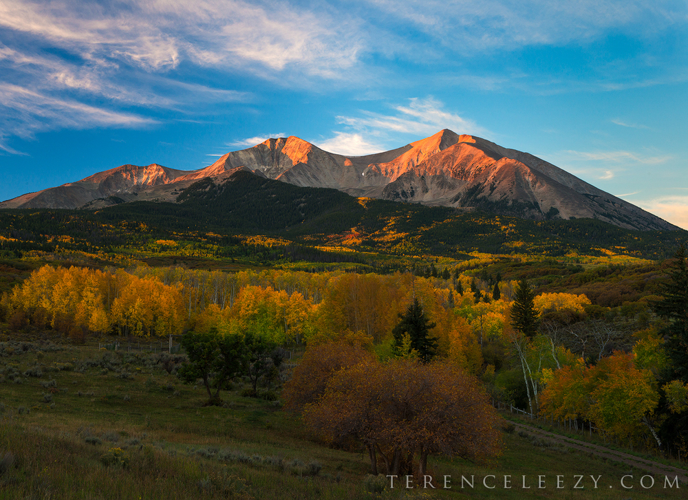 Mount Sopris at sunrise.