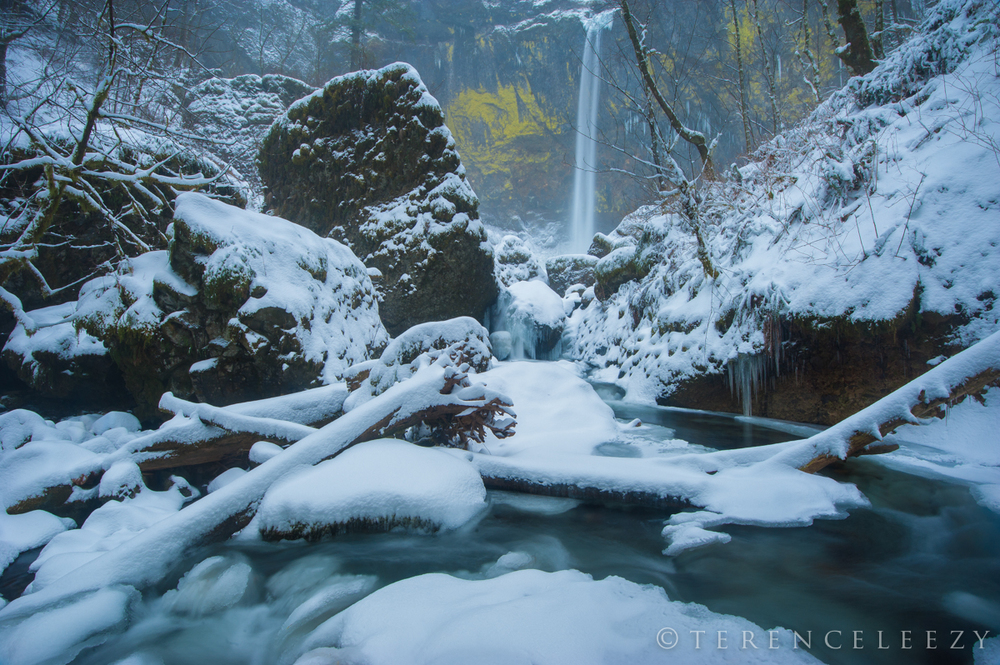 February - Elowah Falls, Oregon