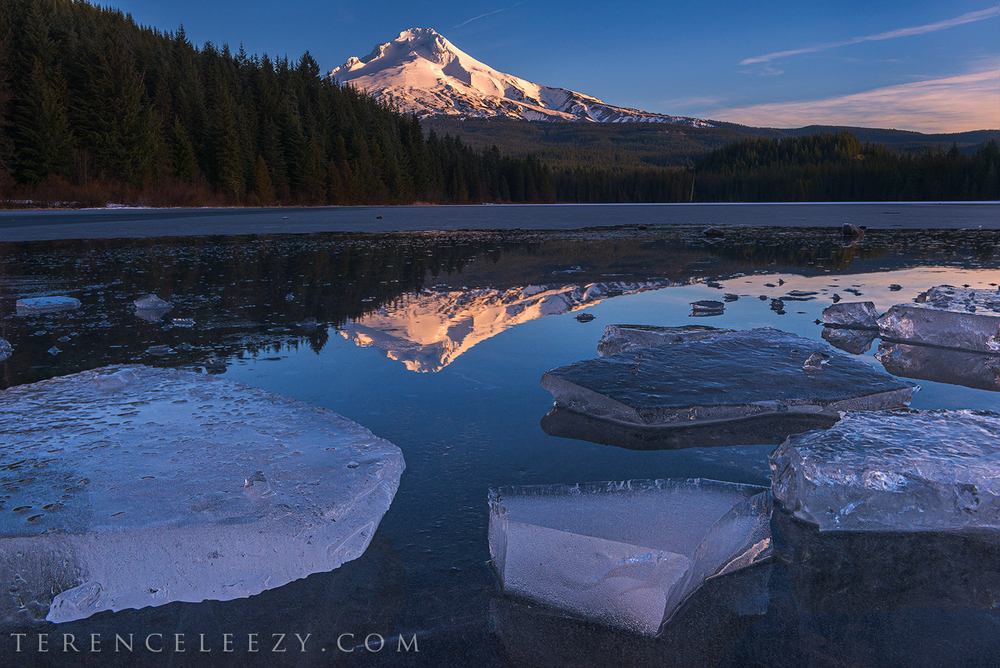 January - Trillium Lake, Oregon.
