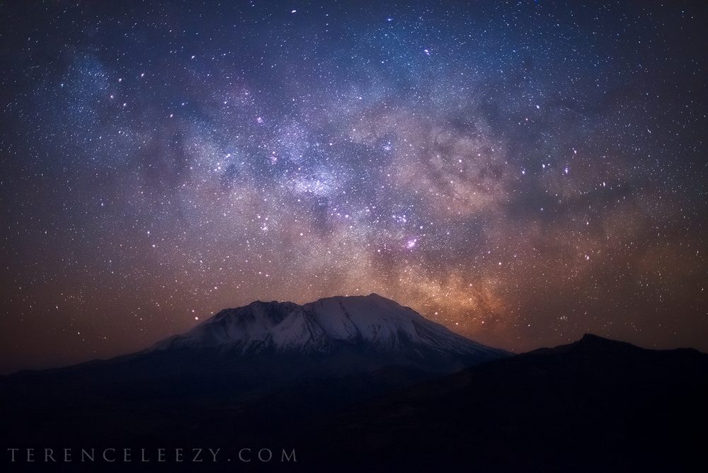 February - Mount St Helens, Washington