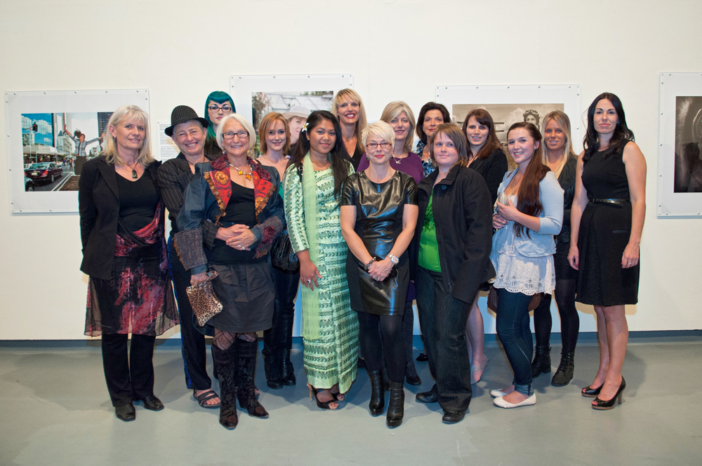 April 2012 at the All Woman Exhibition opening.  I'm centre with many of the women from the project.