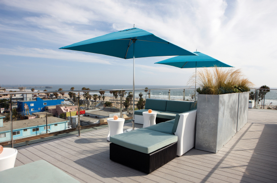 Rooftop at the Irwin in Venice Beach Ca.
