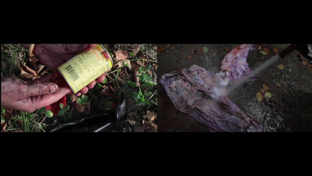Remedy, 2013, 2 channel video still