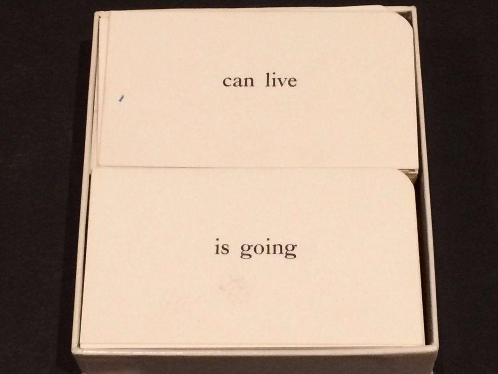 The original box of cards as I found them.