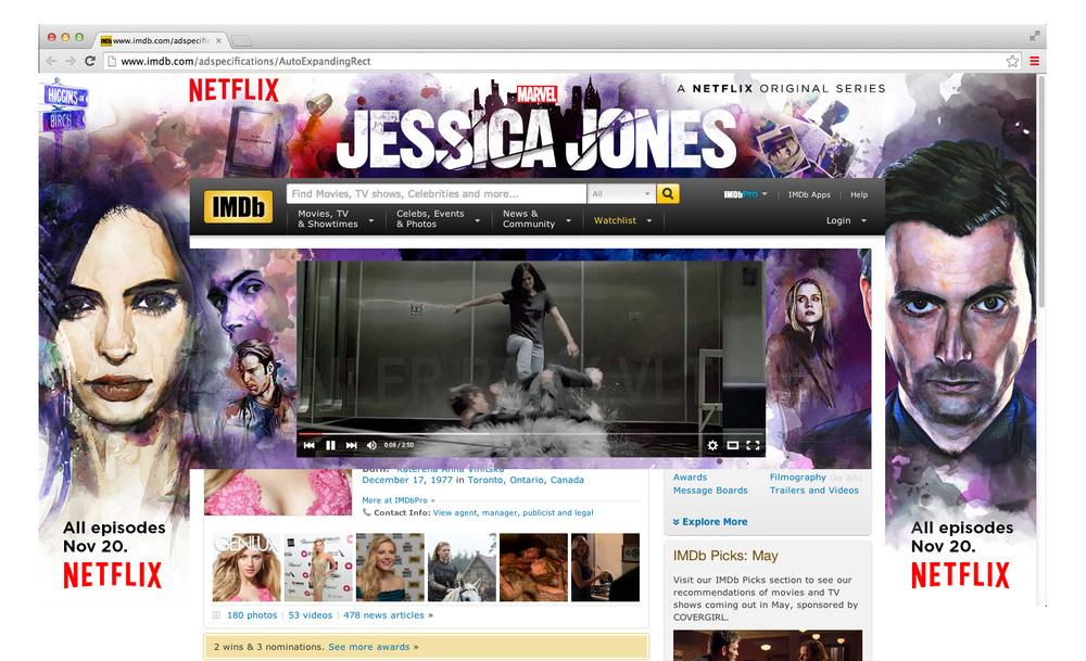 Jessica Jones IMBD Skin/ Push Down ad part 2
