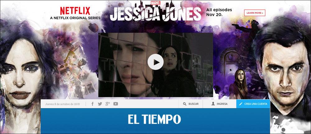 Jessica Jones El Tiempo Skin / ad part 2