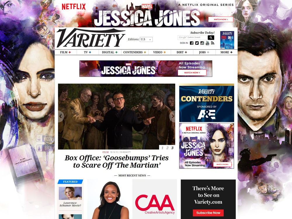 Jessica Jones Variety Skin / video ads part 2