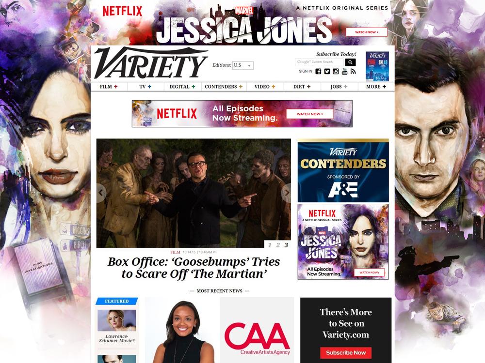 Jessica Jones Variety Skin / Video ads part 1