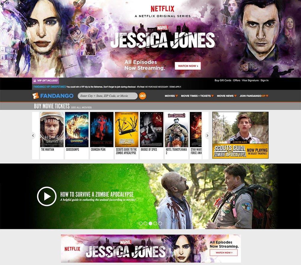 Jessica Jones Fandago ads