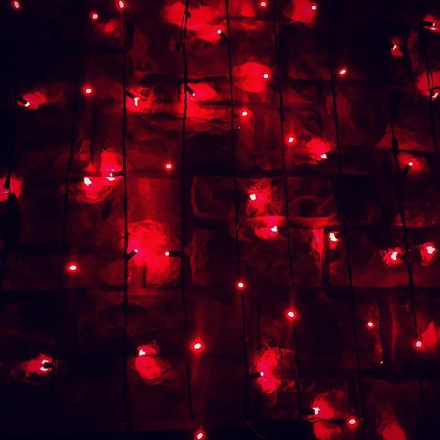 temptation lay all around. The key is not to ignore it. But face it, only then does it lose its power. #riseabove #bebetter #improve #power #faceit #carryon #temptation #tempting #red #lights #christmaslights #light #lighting #redlight #texture #stone #dark #darkness #shadows #shadow #bar #nightout #night #nightlights #glow #glowing