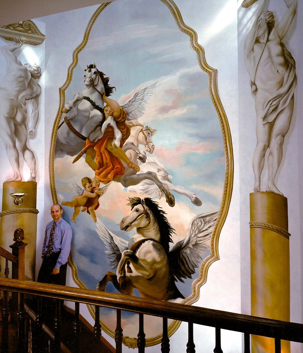 Horse Mural                             Kips Bay Showhouse