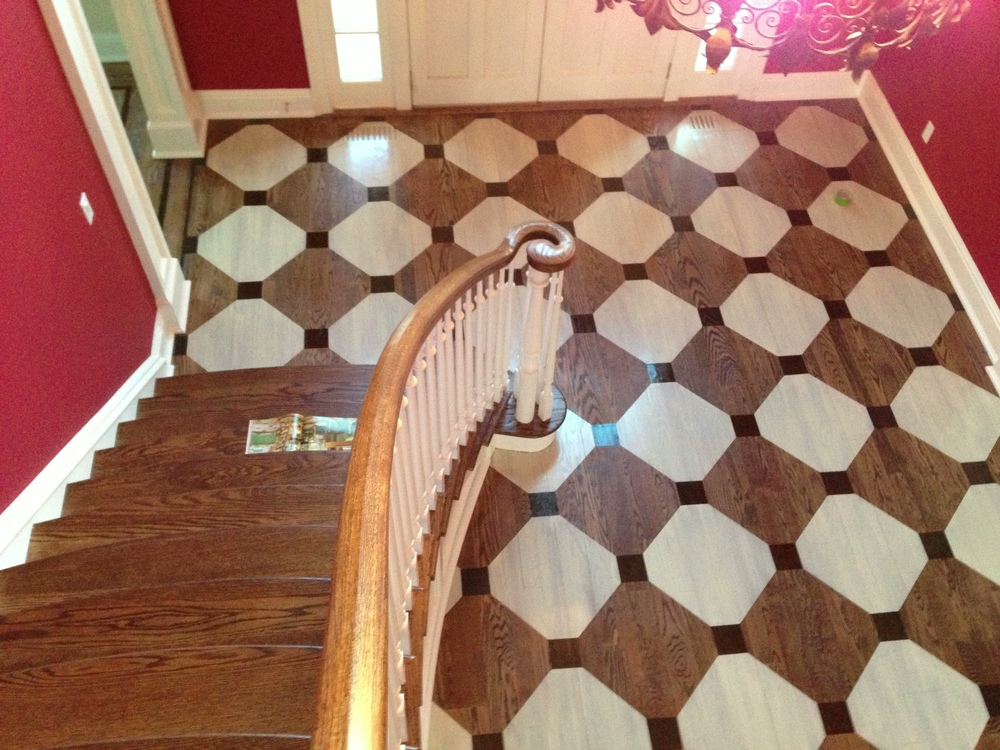entry hall painted floor