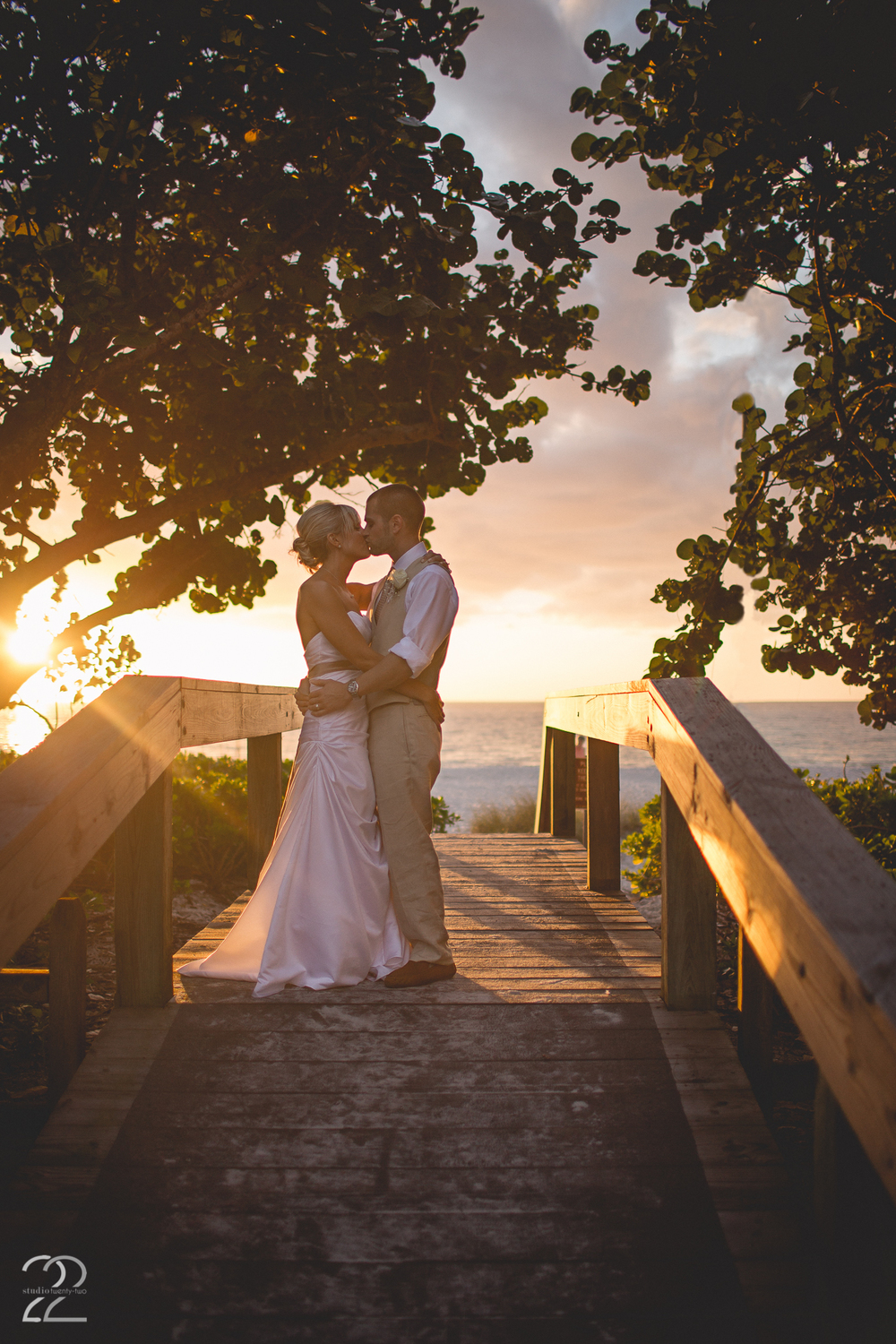 Beach Sunset Wedding