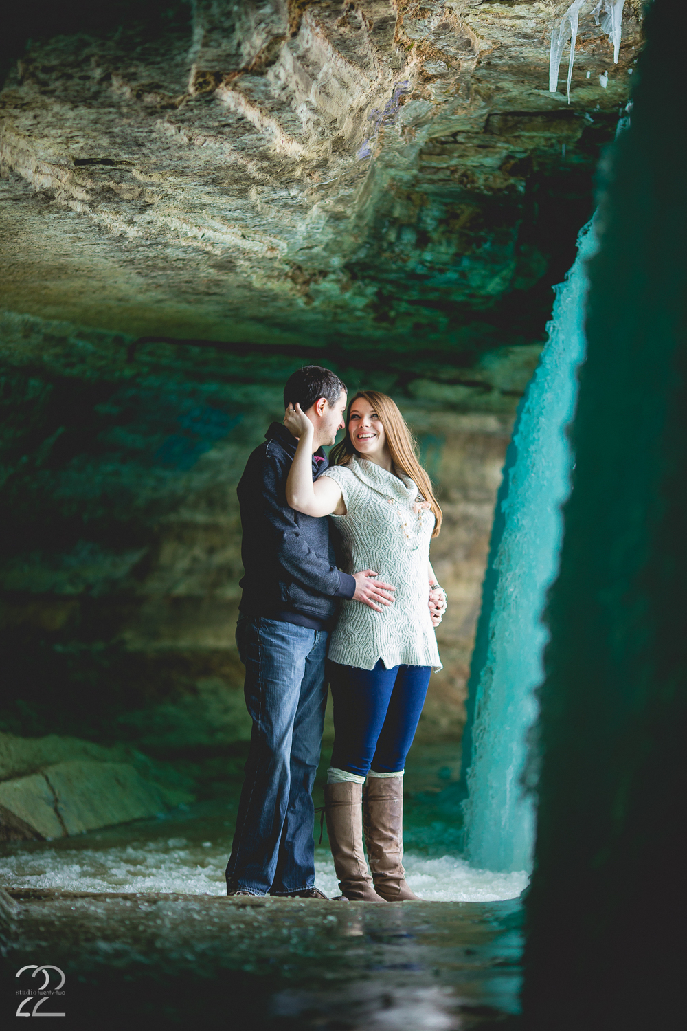 Minnehaha Falls Engagement Photographer
