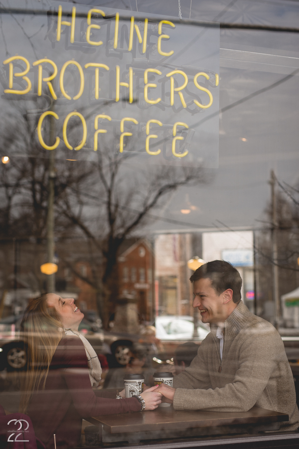Coffee Shop Engagement Photos